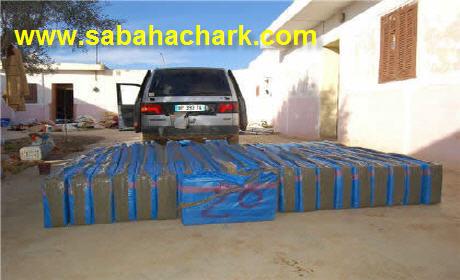وجدة: درك وجدة يحجز 1400 كيلوغرام من مخدر الشيرا على متن سيارة مزورة بالقرب من مطار وجدة أنكاد