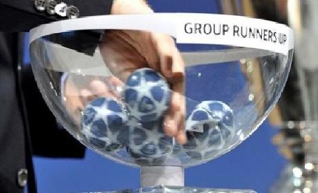 قرعة دوري أبطال أوروبا لدور الستة عشر و مواجهات برشلونة و مانشستر سيتي