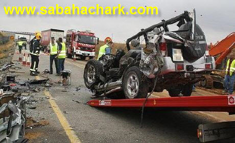 ترحيل جثامين أفراد الأسرة المغربية الأربعة ضحايا حادث سير بكاطالونيا . بمسقط رأسهم بمدينة الحسيمة