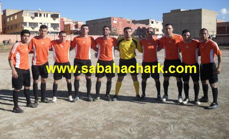 فريق الجمعية الرياضية سيدي سليمان شراعة بركان لكرة القدم يواصل مسلسل الانتصارات ويسقط نهضة بني انصار بأربعة أهداف لواحد .