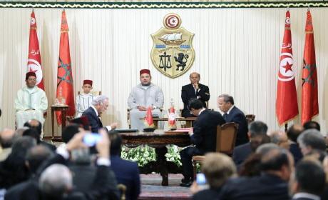 المرزوقى ومحمد السادس يشرفان على توقيع 23 اتفاقية