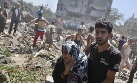 571 شهيد و3360 جريحا في اخر حصيلة للعدوان الاسرائيلي على غزة