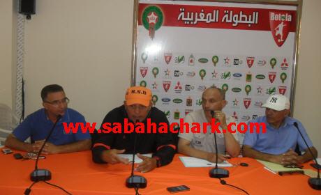 عبد الرحيم طاليب يعقد ندوة صحفية تسبق مباراة النهضة البركانية والدفاع الحسني الجديدي