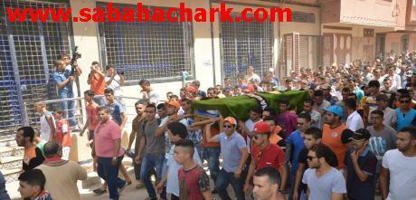 موكب مهيب شيع جنازة سعد بوجنان ببركان