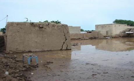 إنهيار 60 منازلا بفكيك إثر الفيضانات