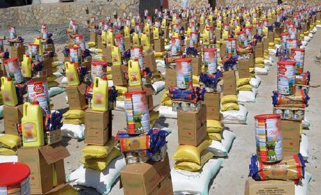 مساعدات إنسانية تعرض للبيع في أسواق سيدي إفني…