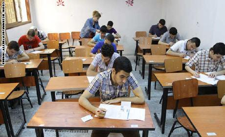 """""""بلاغ"""" مواعد إجراء الامتحانات المدرسية للسنة الدراسية 2015-2014"""
