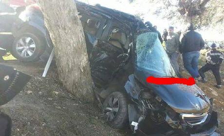 نبيل أومغار لاعب شباب الريف الحسيمة يتعرض لحادثة سير خطيرة