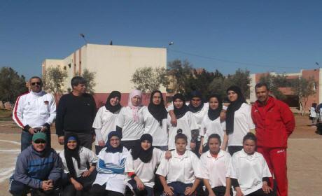 احتفالا باليوم العالمي للمرأة : تنظيم دوري في كرة القدم والسلة بثانوية القدس ببركان