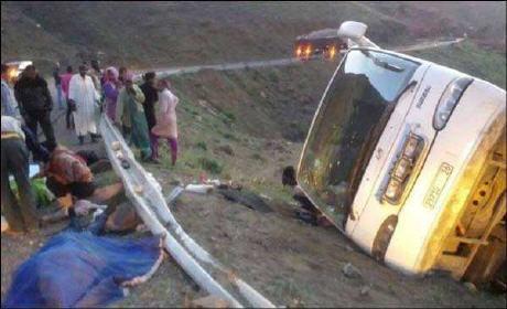 حادثة سير تصرع سبعة أشخاص على طريق ورزازات