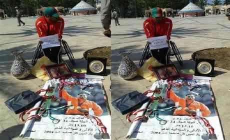 """بطل أولمبي عز الدين النويري يعرض ميداليته الذهبية للبيع بسبب التهميش """"فيديو وصورة"""""""