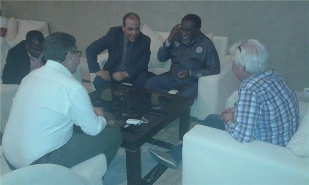 In gesprek met Ambassaduer vanb Ghana