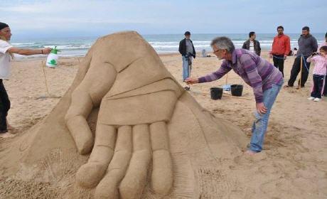 السعيدية تحتضنان النسخة الأولى للمهرجان الدولي لفن الرمال