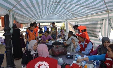 جمعية الشعلة للتربية والثقافة فرع سيدي سليمان شراعة في خيمة صحية ببركان