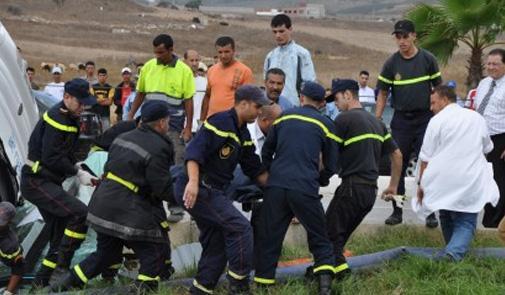 بلاغ: 19قتيلا وأزيد من 1300 جريح في حوادث سير بالمناطق الحضرية خلال أسبوع
