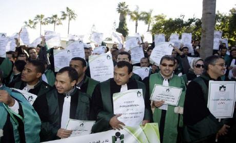 """""""قضاة المغرب"""" يعودون للإحتجاج لمطالبة بحقوقهم الدستورية"""