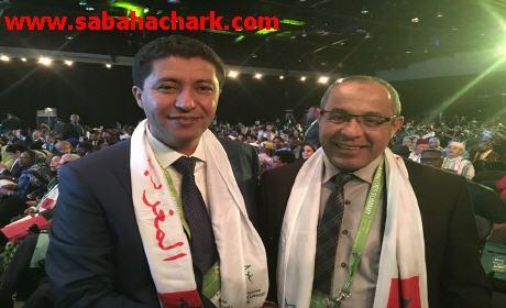 محمد إبراهيمي رئيس بلدية بركان وعبد النبي بيوي ومحمد امباركي يشاركان في قمة بجنوب إفريقيا