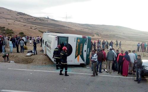 إنقلاب حافلة جماهير شباب الريف الحسيمي