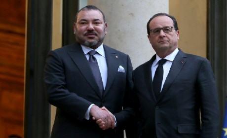 بلاغ: الملك محمد السادس وهولاند يؤكدان العزم المشترك على محاربة الإرهاب والتطرف