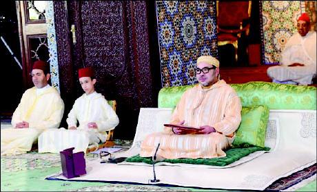 بلاغ: الملك محمد السادس يترأس غدا الأربعاء إحياء ليلة المولد النبوي الشريف بمسجد الحسن الثاني بالدار البيضاء