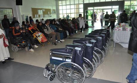 توزيع مساعدات إنسانية على المرضى المعوزين بمستشفى الدراق إقليم بركان
