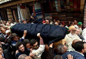 جنازة مهيبة تشيع جثمان الراحل محمد بوستة بحضور ولي العهد والامير مولاي رشيد