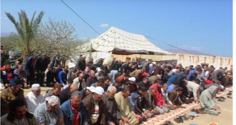 """الآلاف حجوا لمسجد """"بدر"""" بأولاد """"داوود"""" الزخانين لإحياء الوعدة السنوية…"""