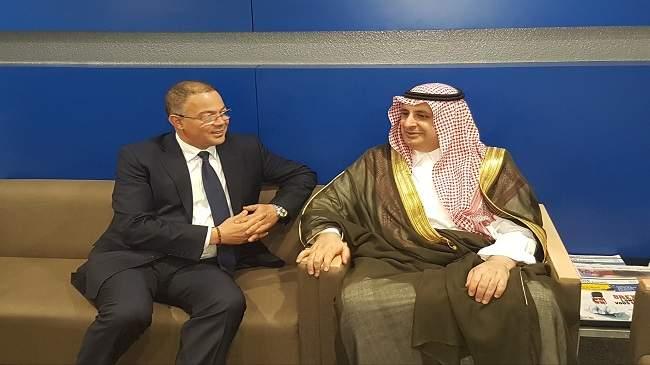فوزي لقجع يستقبل رئيس الاتحاد العربي لكرة القدم