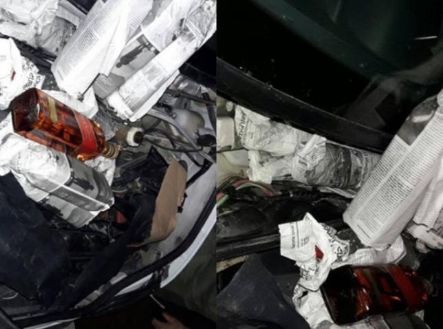 عناصر الجمارك بني أنصار تحجز 48 قنينة من الخمور المهربة داخل سيارة مرقمة بإسبانيا