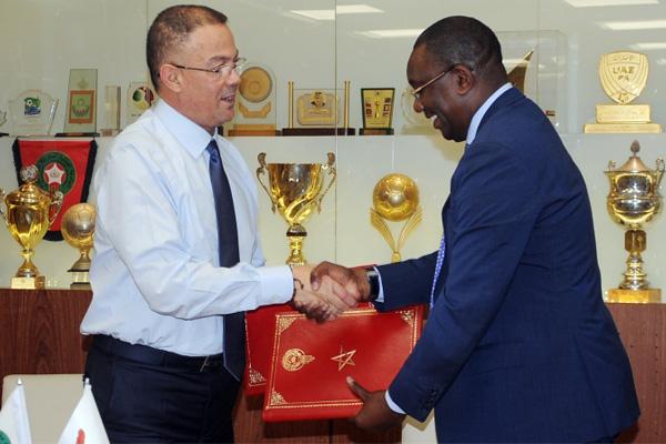 الجامعة الملكية المغربية لكرة القدم توقع لاتفاقية تعاون وشراكة مع الاتحاد الزامبي