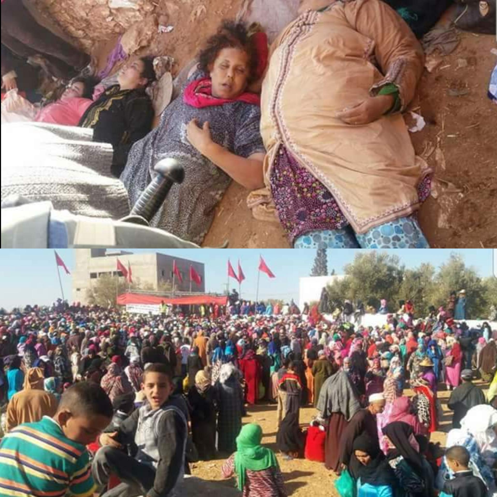 وفاة 15 امرأة في ازدحام خلال توزيع مساعدات غذائية بجماعة القروية سيدي بوعلام إقليم الصويرة