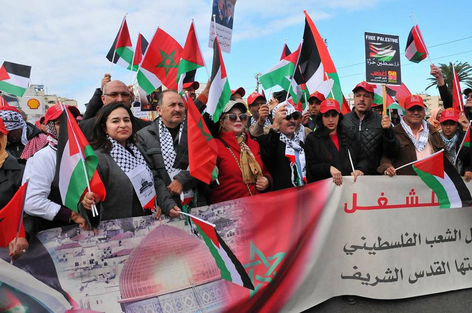 مسيرة حاشدة بالرباط ردا على قرار ترامب باعتبار القدس عاصمة للكيان الصهيوني