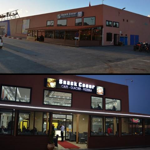 الجديد ببركان … افتتاح مقهى ومطعم «سناك كور»♥️♥️♥️ «Snack coeur» بمرجان سيدي سليمان شراعة