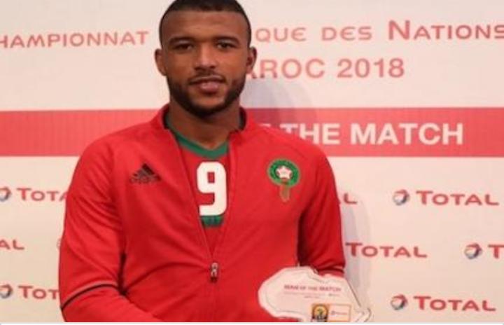 أيوب الكعبي يتوج بجائزة الأفضل وهداف الكأس الإفريقية 2018