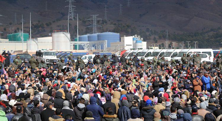 إضراب عام وتظاهرة في مدينة جرادة