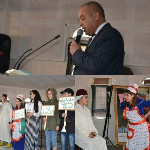 محمد إبراهيمي رئيس المجلس البلدي لبركان يحتفي بموظفات الجماعة بمناسبة اليوم العالمي للمرأة ويوزع الورود والهدايا