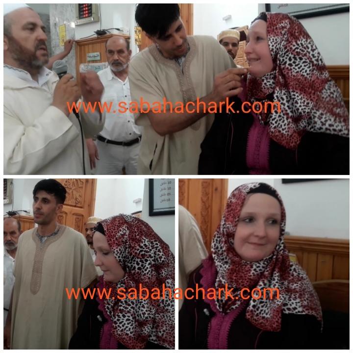 امرأة هولندية تعتنق الإسلام بمسجد الغفران ببركان