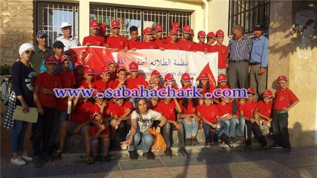منظمة الطلائع أطفال المغرب فرع العيون الشرقية يصنعون الحدث بمخيم قرية أركمان طيلة المرحلة الأولى