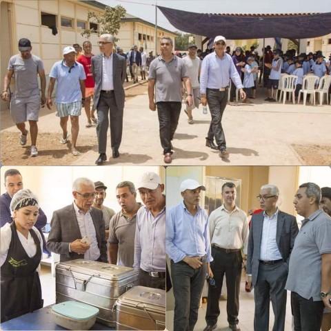 رشيد الطالبي العلمي، وزير الشباب والرياضة يقوم بزيارة تفقدية لمخيم السعيدية