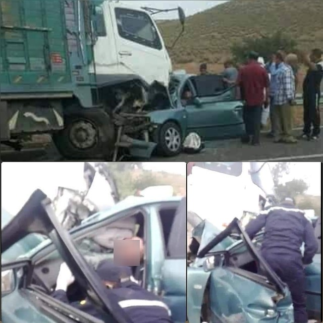 مرة أخرى حادثة سير خطيرة بين وجدة وجرادة تخلف 4 قتلى وعدد من المصابين