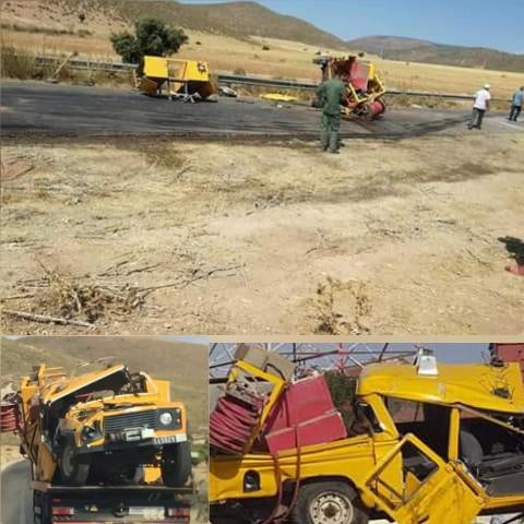 فاجعة اخرى على الطريق الوطنية الرابطة بين جرادة و العيون… مصرع 3 موظفين بمندوبية المياه والغابات