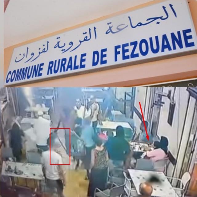 خطير… عصابة مسلحة بالسيوف تُهاجم مطعم وتصيب بعض المواطنين بجماعة فزوان