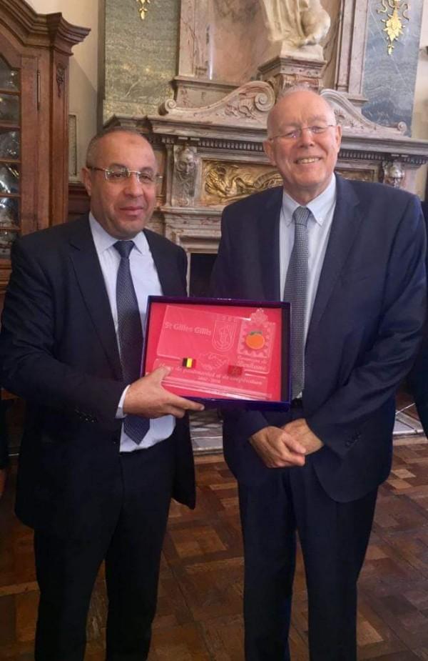 رئيس بلدية سان جيل البلجيكية يستقبل محمد ابراهيمي رئيس الجماعة الحضرية ببركان