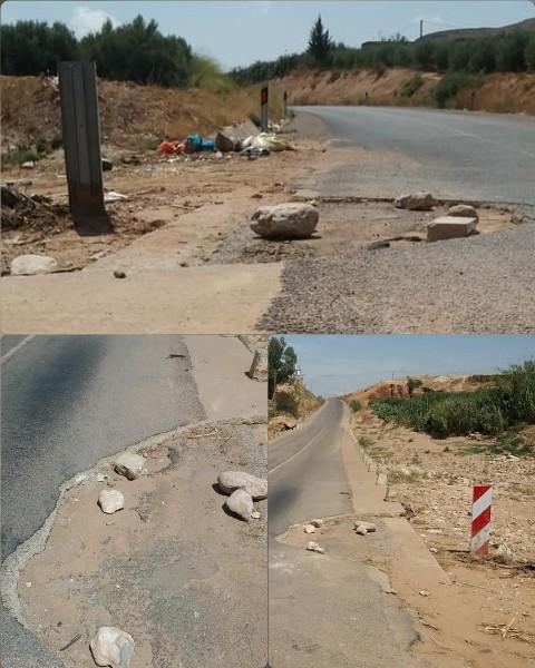 العيون الشرقية الاستهتار بحياة المواطنين إلى متى مثال طريق قنطرة وادي ميه الجديد بطريق لخميس