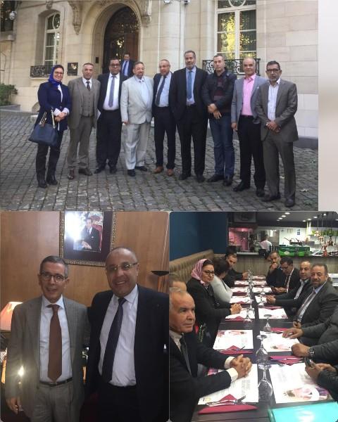 محمد عامر سفير المغرب ببلجيكا يستقبل وفد من الجماعة الحضرية لمدينة بركان
