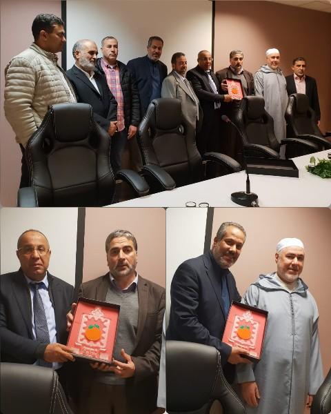 مسؤولو معهد الدراسات الإسلامية ببلجيكا يستقبلون وفد بلدية بركان