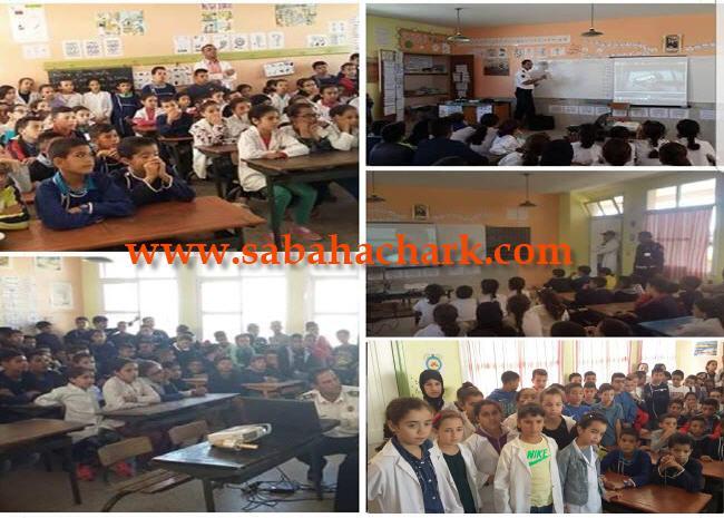 السلامة الطرقية والعنف المدرسي موضوع حملة توعوية بمدرسة المطار بمدينة العيون سيدي ملوك