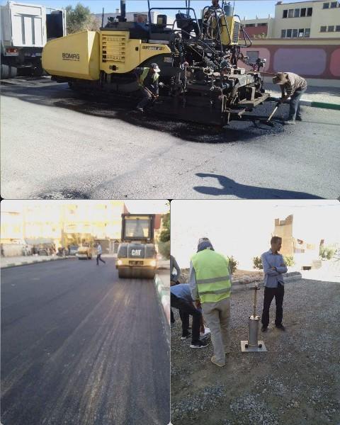 وأخيرا انطلاق اشغال الصيانة الاعتيادية للطرقات بمدينة العيون سيدي ملوك ببعض الطرق المتضررة