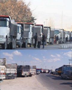 أصحاب الشاحنات يدخلون في إضراب بسبب ارتفاع اسعار المحروقات