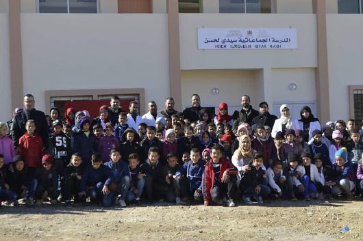 المديرية الاقليمية بتاوريرت انطلاق العمل بالمدرسة الجماعاتية سيدي لحسن في حلة جميلة